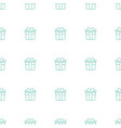 present icon pattern seamless white background vector image vector image