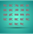 racing background set collection of 23 checkered vector image vector image
