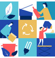 recycling - flat design style conceptual colorful vector image