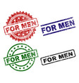 scratched textured for men seal stamps vector image vector image