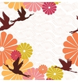 seamless background of Japanese subjects vector image vector image