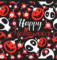 seamless festive pattern skulls and monster vector image