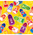 seamless pattern - colored children gumshoes vector image