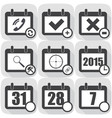 set flat icon on the calendar vector image vector image