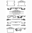 set of caligraphic design elements 2 vector image vector image