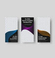 set vertical black web banners with place vector image