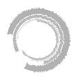 set white abstract halftone circles logo vector image vector image