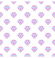simple pastel colored diamond crystals on white vector image