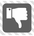 Thumb Down Rounded Square Button vector image vector image
