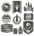 Vintage beer brewery emblems labels and design vector image vector image