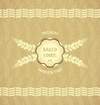 Vintage design emblem for baked goods vector image