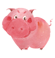 watercolor pig vector image vector image
