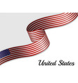 waving ribbon flag vector image