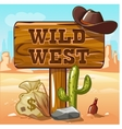 Wild West computer game background vector image