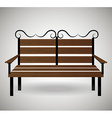 Wooden chair design vector image