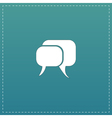 dialogue quote icon vector image