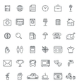 Linear icons Thin icon and signs outline symbol vector image