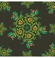 Texture With Flowers And Leaves vector image