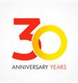 30 circle anniversary logo vector image vector image