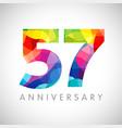 57 anniversary color logo vector image