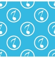 8th note sign blue pattern vector image vector image