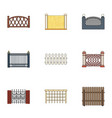 a fence of metal and brickswooden palisade and vector image vector image