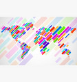 abstract world map with lines world stripes map vector image