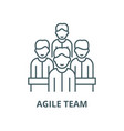 agile team line icon outline concept vector image vector image