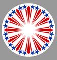 american round symbol emblem logo vector image vector image