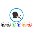 angry person shout rounded icon vector image