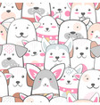 animals dog - cute funny pattern vector image