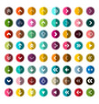 arows icons set for app arrow in circle set vector image vector image