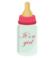 Baby bottle for girl vector image