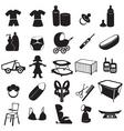 baby logos vector image vector image
