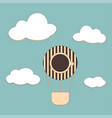 background with coffee and air balloons vector image vector image