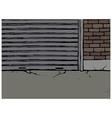 Backstreet Alleyway Scene vector image vector image