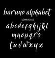 baruno alphabet typography vector image vector image