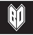 Bd logo monogram with emblem line style isolated
