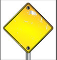 blank yellow traffic sign vector image vector image
