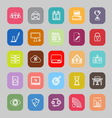 Business management line flat icons vector image vector image