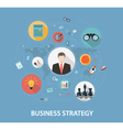 Business Strategy on flat style design vector image vector image