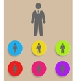 businessman black web icon with color variations vector image