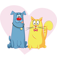 Cat and Dog Cartoon Mascots vector image vector image