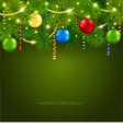 Christmas card with a beautiful tree vector image vector image