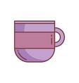 coffee cup ceramic handle icon vector image