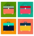 Concept flat icons with long shadow case vector image vector image