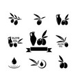 concept olive product symbol set vector image vector image