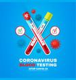 coronavirus blood test realistic 3d test tube vector image