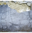cracked stucco wall texture vector image vector image