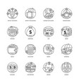 creative banking and finance icon set vector image vector image